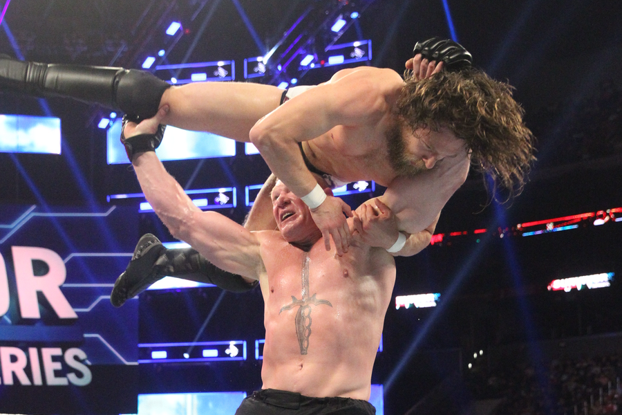 Brock Lesnar Battles Daniel Bryan in Champion vs. Champion Main Event