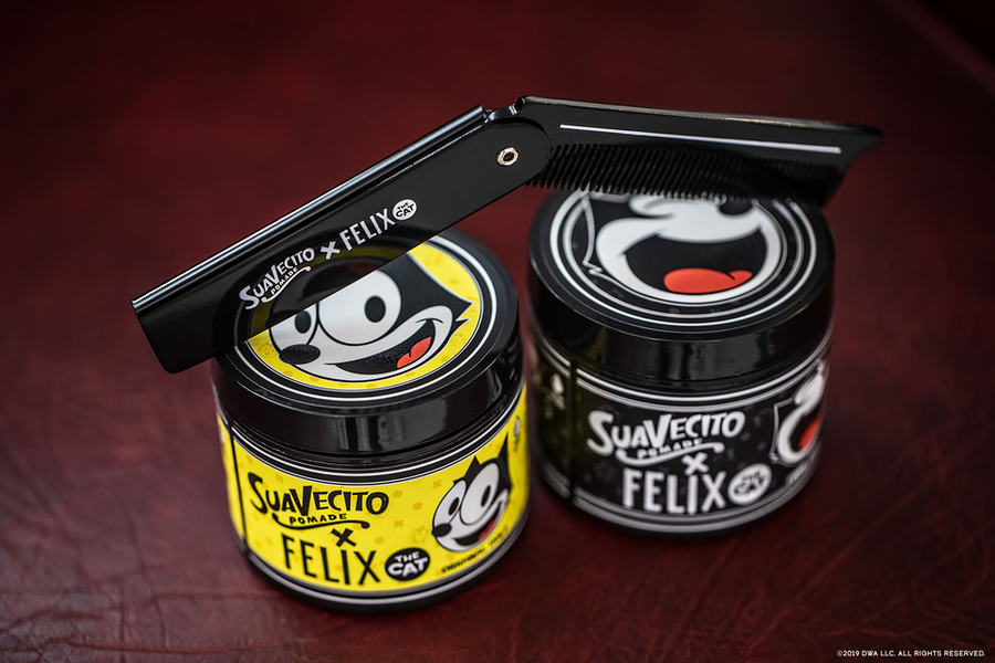 As Part of its 100th Anniversary Celebrations, Felix the Cat Collaborates with Suavecito Pomade