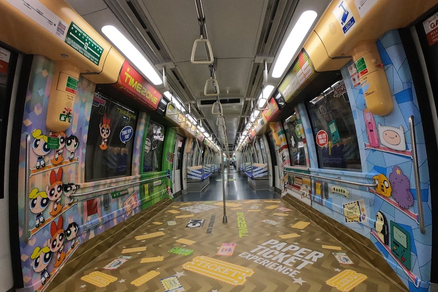Cartoon Network and Timezone Link Up & Unveil Branded MTR Train in Singapore