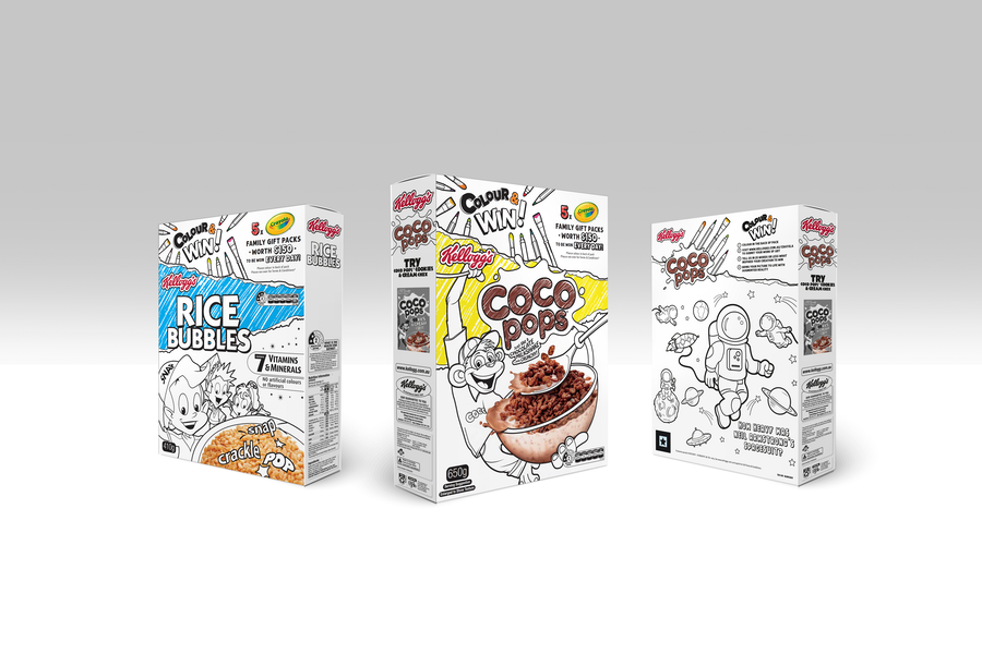 Kellogg's Go Black and White